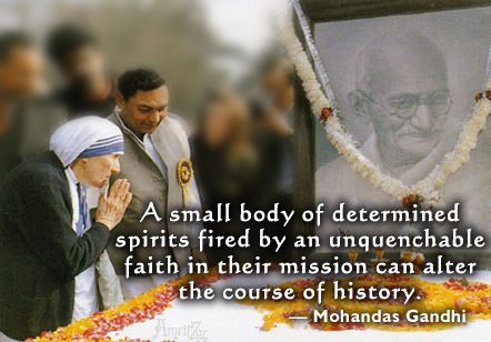 Ghandi and Mother Teresa
