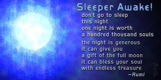 sleeper awake - Rumi