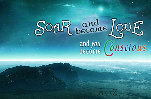 soar and become Love