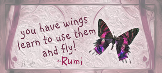 you have wings - Rumi